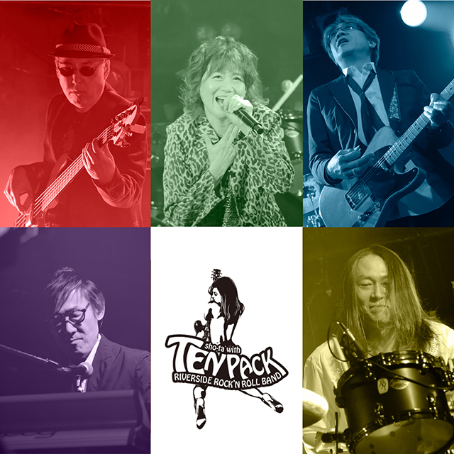 Sho-ta with Tenpack riverside rock'n roll band